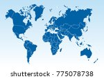 color world map vector | Shutterstock .eps vector #775078738