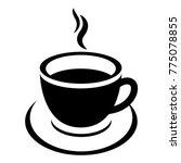 coffee cup icon vector  | Shutterstock .eps vector #775078855