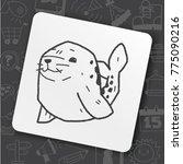 art icon link drawn doodle idea ... | Shutterstock .eps vector #775090216