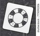 art icon link drawn doodle idea ... | Shutterstock .eps vector #775090306