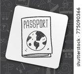 art icon link drawn doodle idea ... | Shutterstock .eps vector #775090366