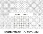 bundle of line patterns | Shutterstock .eps vector #775093282