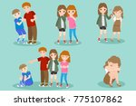 cartoon people with bullying... | Shutterstock .eps vector #775107862