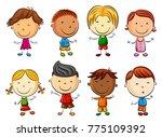 vector illustration of happy... | Shutterstock .eps vector #775109392