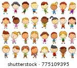 vector illustration of happy... | Shutterstock .eps vector #775109395
