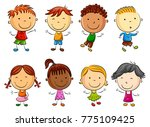 happy kid cartoon | Shutterstock . vector #775109425