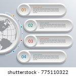 vector abstract 3d paper... | Shutterstock .eps vector #775110322
