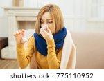 having disease. pretty ill... | Shutterstock . vector #775110952