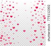hearts confetti random falling... | Shutterstock .eps vector #775112302