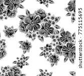 abstract elegance seamless... | Shutterstock . vector #775115695