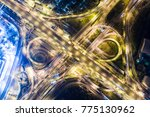 night infinity sign traffic... | Shutterstock . vector #775130962