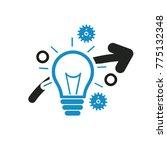 idea icon design vector | Shutterstock .eps vector #775132348