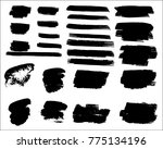 collection of hand drawn grunge ... | Shutterstock .eps vector #775134196