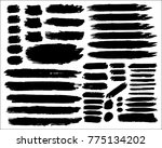 collection of hand drawn grunge ... | Shutterstock .eps vector #775134202