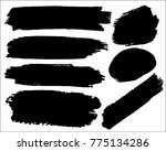 vector black paint  ink brush... | Shutterstock .eps vector #775134286