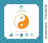 yin yang symbol of harmony and... | Shutterstock .eps vector #775138156