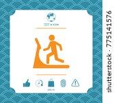 man on treadmill icon | Shutterstock .eps vector #775141576