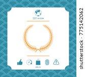 laurel wreath   elegant symbol... | Shutterstock .eps vector #775142062