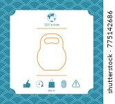 kettlebell line icon | Shutterstock .eps vector #775142686