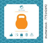 kettlebell symbol icon | Shutterstock .eps vector #775142692