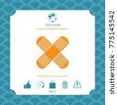 cross adhesive bandage  medical ... | Shutterstock .eps vector #775145542