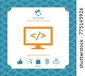 coding symbol icon | Shutterstock .eps vector #775145926