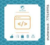 code editor icon | Shutterstock .eps vector #775145956