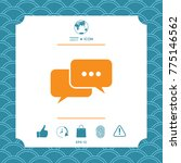 chat symbol icon | Shutterstock .eps vector #775146562
