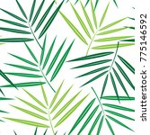 palm tree seamless pattern... | Shutterstock .eps vector #775146592