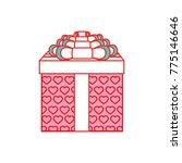 isolated gift design | Shutterstock .eps vector #775146646