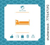 bed symbol icon | Shutterstock .eps vector #775147192
