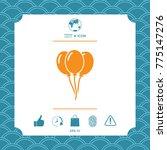 balloons symbol icon | Shutterstock .eps vector #775147276
