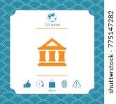 bank symbol icon | Shutterstock .eps vector #775147282