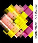 color arrows on black... | Shutterstock .eps vector #775152352