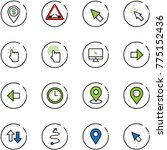 line vector icon set   dollar... | Shutterstock .eps vector #775152436