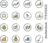 line vector icon set  ... | Shutterstock .eps vector #775152622