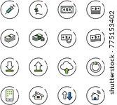 line vector icon set   syringe... | Shutterstock .eps vector #775153402