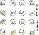 line vector icon set  ... | Shutterstock .eps vector #775153912