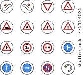 line vector icon set  ...   Shutterstock .eps vector #775154035