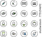 line vector icon set   syringe... | Shutterstock .eps vector #775154692