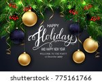 holidays greeting card for... | Shutterstock .eps vector #775161766