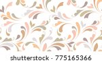 Floral seamless background for textile, wallpapers, wrapping, paper. Flowers and swirls. Art ornament. | Shutterstock vector #775165366
