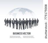 team of businessmen against...   Shutterstock .eps vector #775175008
