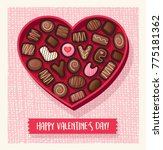 heart shaped valentines day... | Shutterstock .eps vector #775181362