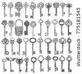 ornamental medieval vintage... | Shutterstock .eps vector #775181545