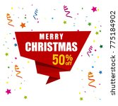 christmas sale with white... | Shutterstock .eps vector #775184902