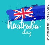 happy australia day vector... | Shutterstock .eps vector #775187392