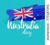 happy australia day vector... | Shutterstock .eps vector #775187392