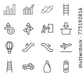 thin line icon set   graph ... | Shutterstock .eps vector #775192816