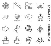 thin line icon set   target ... | Shutterstock .eps vector #775198606